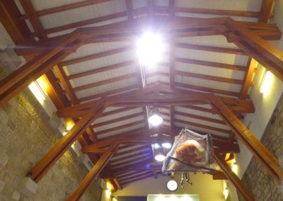 Detalle de la cubierta por el interior