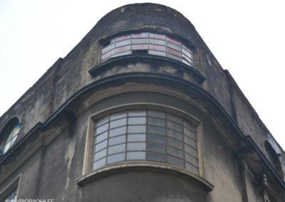 Esquina curva de fachada