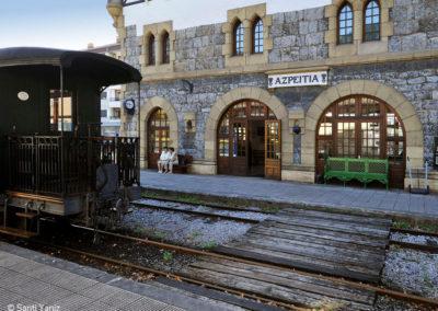 Estación Azpeitia. Hoy sede del Museo del Ferrocarril