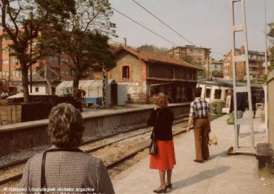 Estación de Neguri años 70