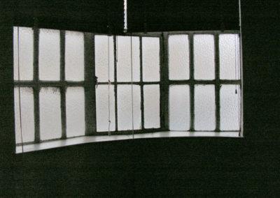 Detalle de las ventanas sobre el muro