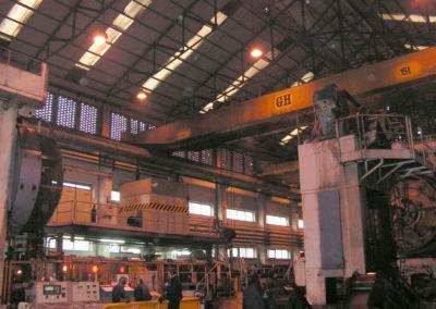 Vista actual del interior de la fábrica