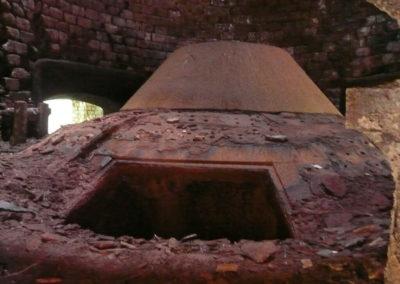 Interior del horno de calcinación