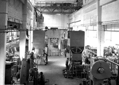 Detalle de la maquinaria de la fábrica