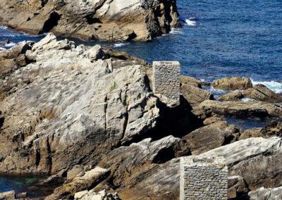 Bases del cargadero en la zona de mar