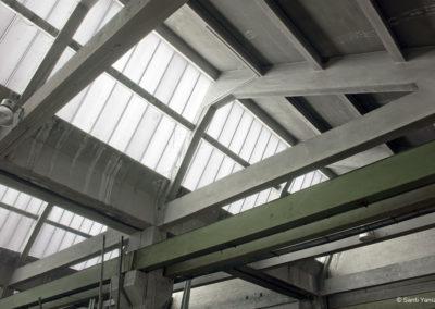 Detalle del shed al interior