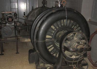 Turbina en el interior de la Casa de máquinas