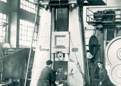 Imagen histórica del interior de la fábrica
